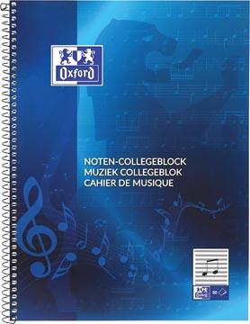 Oxford cahier de musique, ft A4, 100 pages
