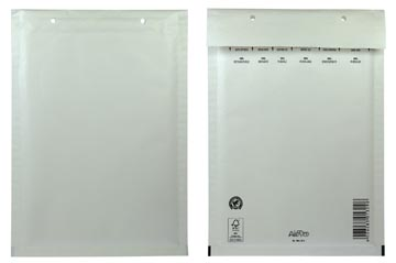 Airpro enveloppes à bulles d'air, ft 180 x 265 mm avec bande adhésive, blanc, boîte de 100 pièces