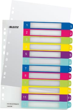 Leitz WOW intercalaires imprimables, 12 onglets