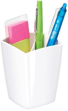 Gloss by CEP pot à crayons avec 2 compartiments, blanc