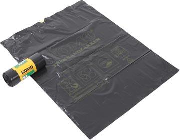 Komo sac à ordures avec cordon, 43 microns, 60 litres, 1 rouleau, 15 sacs