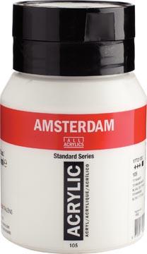 Amsterdam encre acrylique, bouteille de 500 ml, blanc de titane