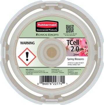 Rubbermaid recharge pour distributeur de désodorisant TCELL 2.0, Spring Blossom