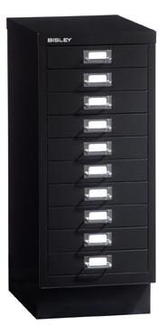 Bisley armoire à tiroirs, ft 67 x 27,9 x 40,8 (h x l x p), 10 tiroirs, noir