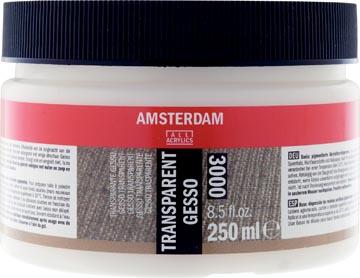Amsterdam gesso transparant, bouteille de 250 ml