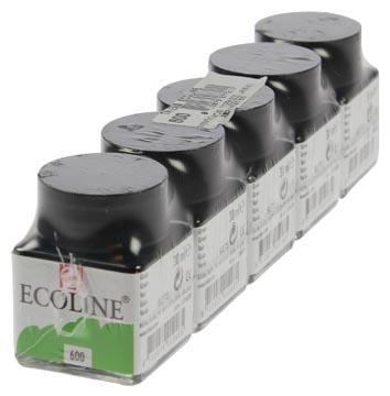 Talans Ecoline peinture à l'eau flacon de 30 ml, vert