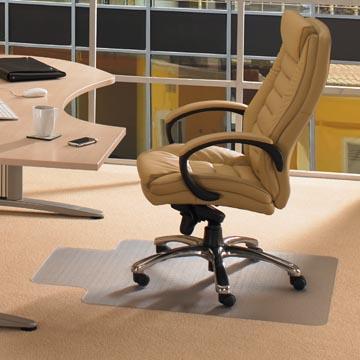 Floortex tapis de sol Computex, pour moquettes, avec entaille ft 51 x 25 cm, ft 120 x 90 cm