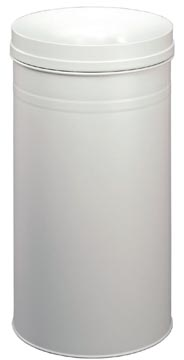 Durable poubelle Safe+, 60 litre, en métal, gris clair