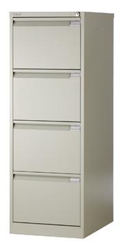Bisley classeur dossiers, ft 132,1 x 47 x 62,2 mm (h x l x p), 4 tiroirs, gris