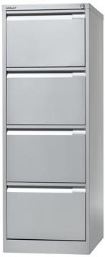 Bisley classeur dossiers, ft 132,1 x 47 x 62,2 mm (h x l x p), 4 tiroirs, argenté