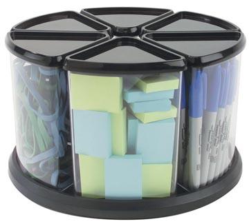 Deflecto triage caurousel avec 6 compartiments, noir