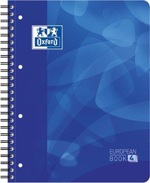 Oxford cahier Projectbook pour ft A4+, ligné, 4 trous, bleu