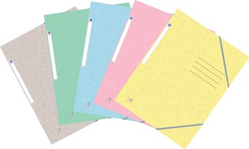Oxford Top File+ farde à rabats, pour ft A4, couleurs pastel assorties