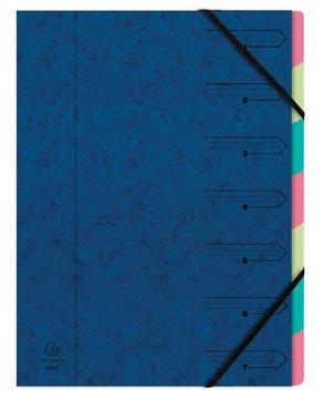 Exacompte Trieur-classeur 7 compartiments, bleu
