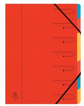 Exacompte Trieur-classeur 7 compartiments, rouge
