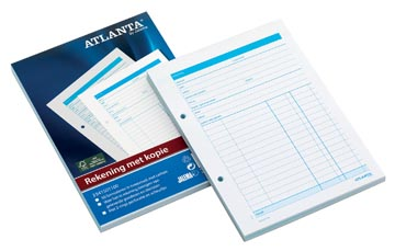 Atlanta by Jalema manifolds note de frais, ft A5, 1 feuille carbone