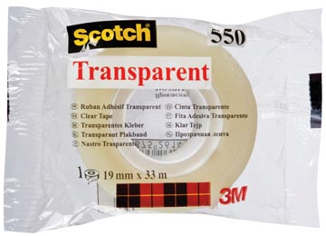 Scotch ruban adhésif transparent 550, ft 19 mm x 33 m