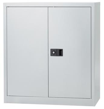 Bisley armoire à portes battantes, ft 100 x 91,4 x 40 cm (h x l x p), 1 tablette, argenté
