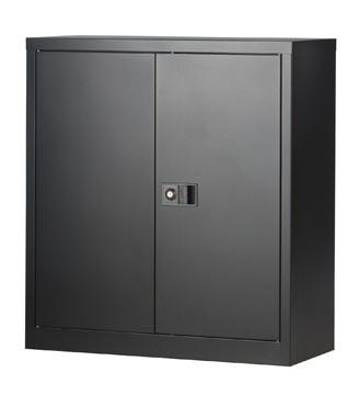 Bisley armoire à portes battantes, ft 100 x 91,4 x 40 cm (h x l x p), 1 tablette, noir