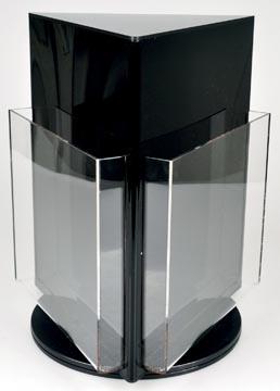 Deflecto présentoir de documents rotatif avec 3 compartiments, format A4