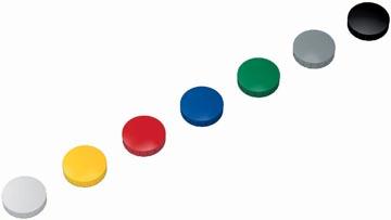 Maul aimant Solid, diamètre 32 mm x 8,5 mm, couleurs assorties, boîte de 10 pièces