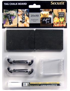 Securit petite ardoise ft A8, paquet de 20 pièces