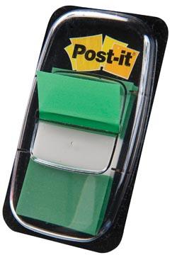 Post-it Index standard, ft 25,4 x 43,2 mm, vert, dévidoir avec 50 cavaliers