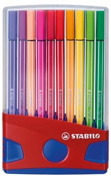 STABILO Pen 68 brush, ColorParade, boîte rouge-bleu, 20 pièces en couleurs assorties