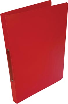 Alpha classeur à anneaux, pour ft A4, en PP, 2 anneaux de 16 mm, rouge tranparent