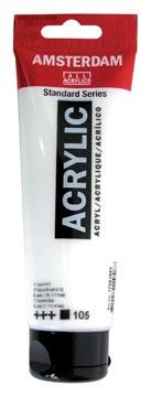 Amsterdam peinture acrylique tube de 120 ml, blanc de zinc