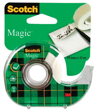 Scotch ruban adhésif Magic Tape ft 19 mm x 15 m