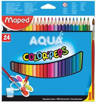 Crayon de couleur aquarellable Color'Peps Aqua 24 crayons