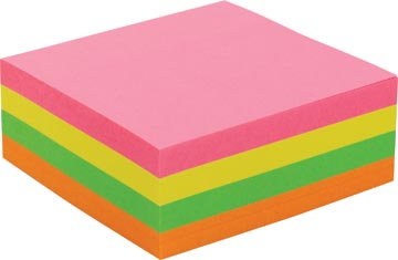 Pergamy jumbo notes, ft 76 x 76 mm, 320 feuilles, couleurs assorties neon