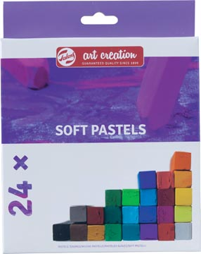 Talens Art Creation pastels tendres, boîte de 24 pièces en couleurs assorties