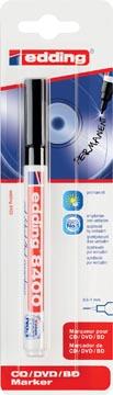 Edding marqueur permanent pour CD/DVD/BD, e-8400, noir, blister 1 pièce
