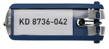 Durable porte-clés Key Clip, bleu, paquet de 6 pièces