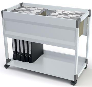 Durable Chariot pour dossiers suspendus System 100 avec tablette