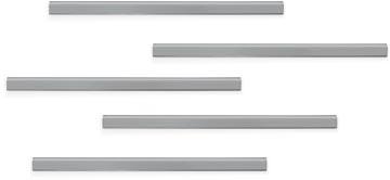 Durable Durafix barre magnétique adhésive, 297 mm, paquet de 5 pièces, argent