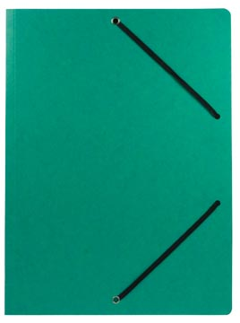 Chemise à élastiques ft 23,5 x 31 cm (pour ft A4), sans rabats, vert