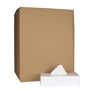 Tissues pour le visage, 2 plis, 100 tissues par boîtes, paquet de 36 boîtes