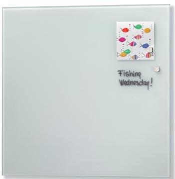 Naga tableau en verre magnétique blanc