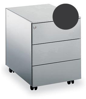 Mobo bloc à tiroirs Universal, 3 tiroirs, sur roulettes, anthracite