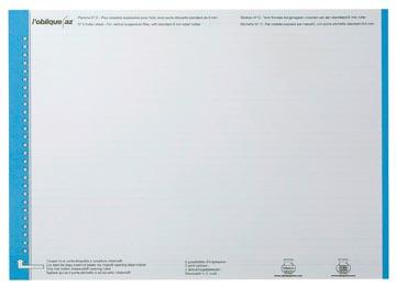 Elba étiquettes dossiers suspendus, pour tiroirs, bleu, 1 feuille avec 27 étiquettes