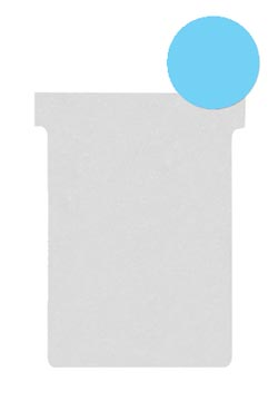Nobo fiches T indice 2, ft 85 x 60 mm, bleu clair