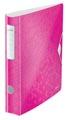 Leitz WOW classeur à levier Active, dos de 6,5 cm, rose